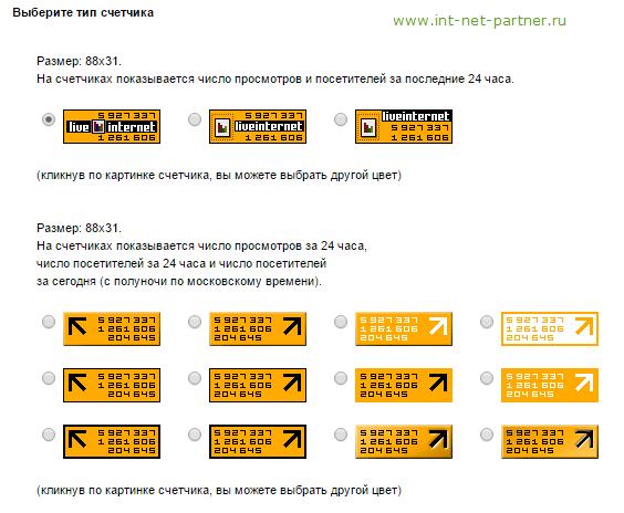 Статистика LiveInternet. Все нюансы установки и настройки