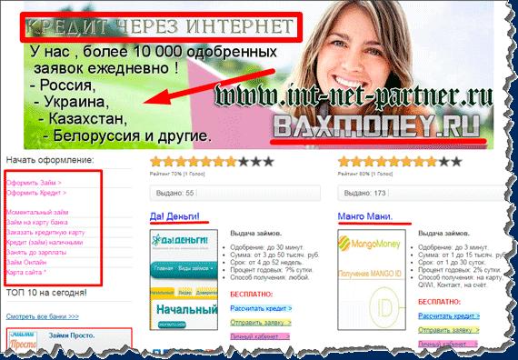 Мгновенные займы на электронные кошельки через интернет