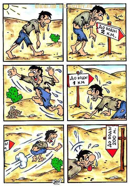 "Комикс ""До воды 200 метров"""