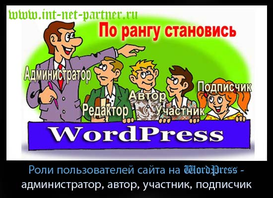Роли пользователей wordpress